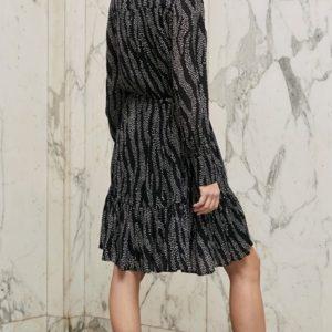 Star zebra jurk Fabienne Chapot. Lange mouw.